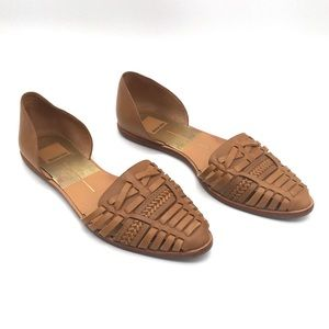 Dolce Vita Huarache Style Woven D'Orsay Flats